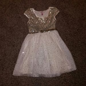 Gold Sequin Justice Dress